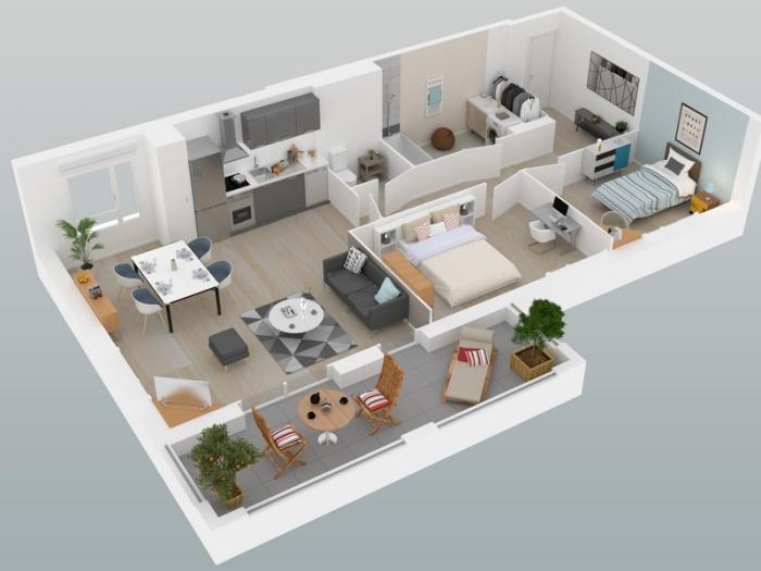 Appartements neufs Mordelles référence 3981 : aperçu n°4