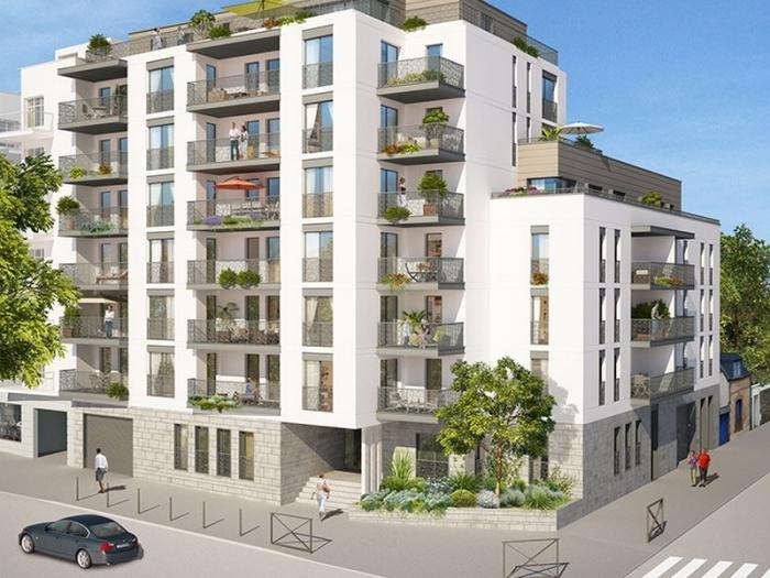Appartements neufs Thabor – Saint-Hélier - Alphonse Guérin référence 4386 : aperçu n°0