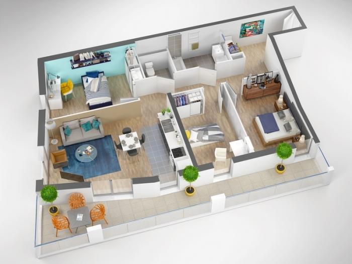 Appartements neufs Cleunay - Arsenal - Redon référence 4381 : aperçu n°2