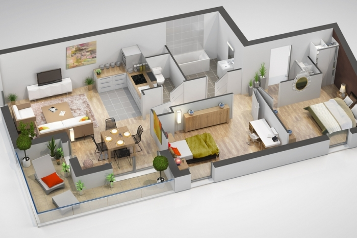 Appartements neufs Cleunay - Arsenal - Redon référence 4381 : aperçu n°3