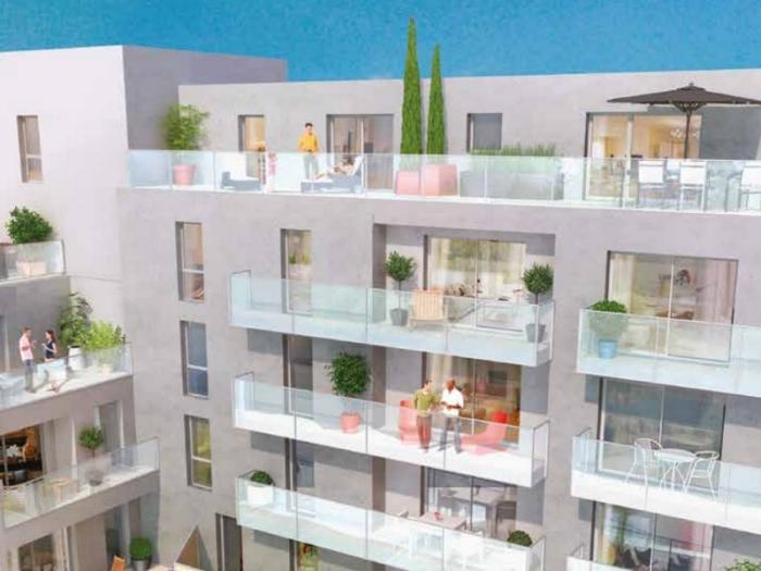 Appartements neufs Bourg-l'Évesque - la Touche - Moulin du Comte référence 3939 : aperçu n°3