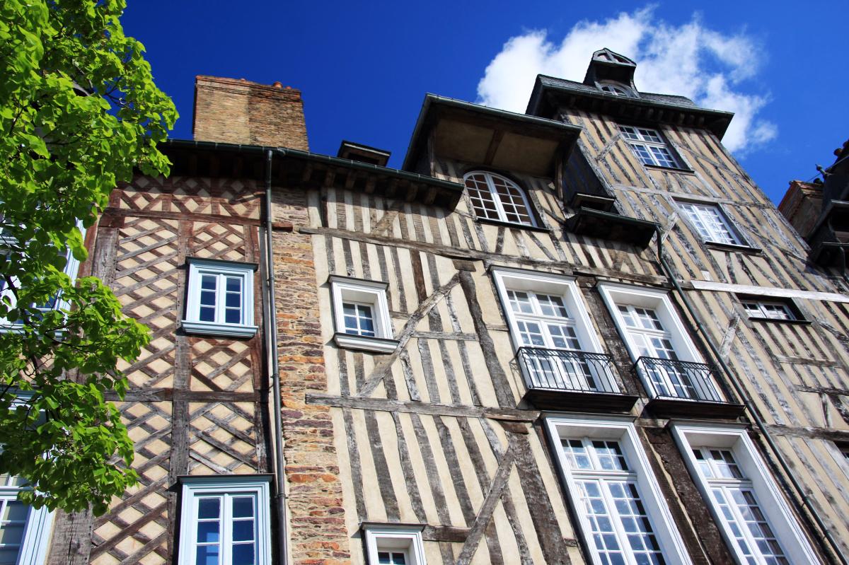 loi pinel rennes - maisons à colombage typiques de l'architecture rennaise