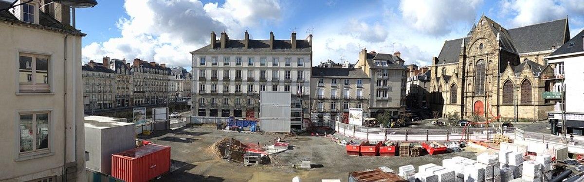 La place Saint-Germain en travaux