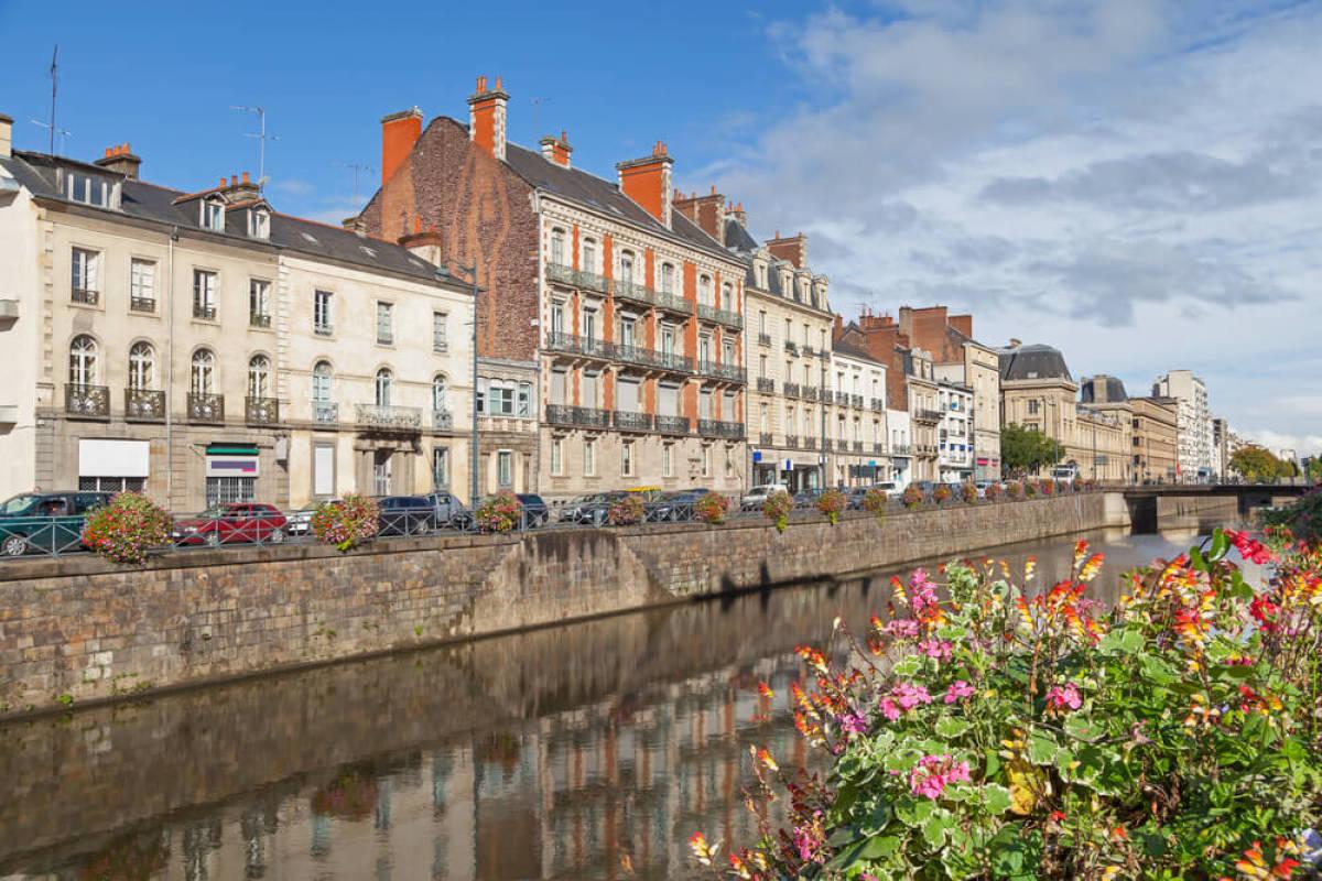 Les quais de la Vilaine à Rennes