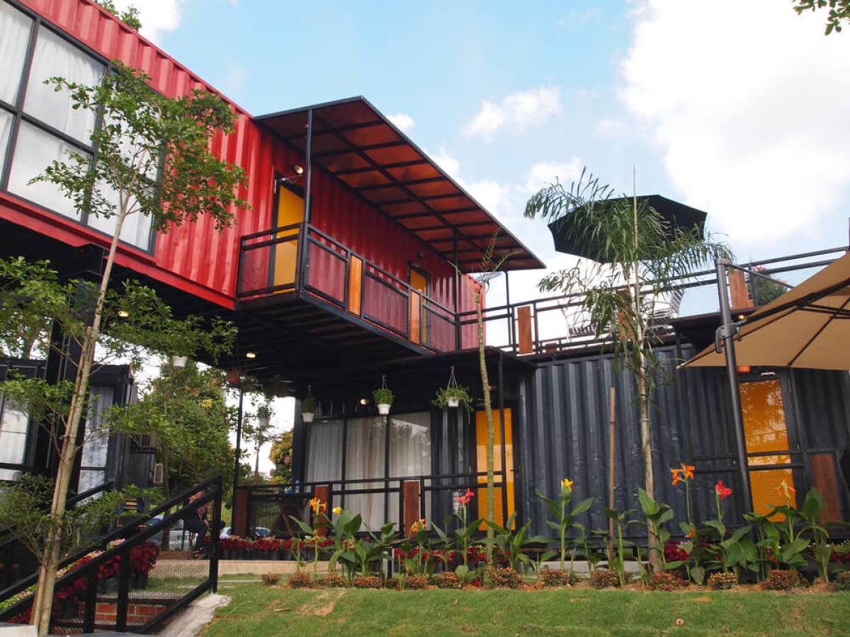 Exemple d'habitats conteneurs en Malaisie