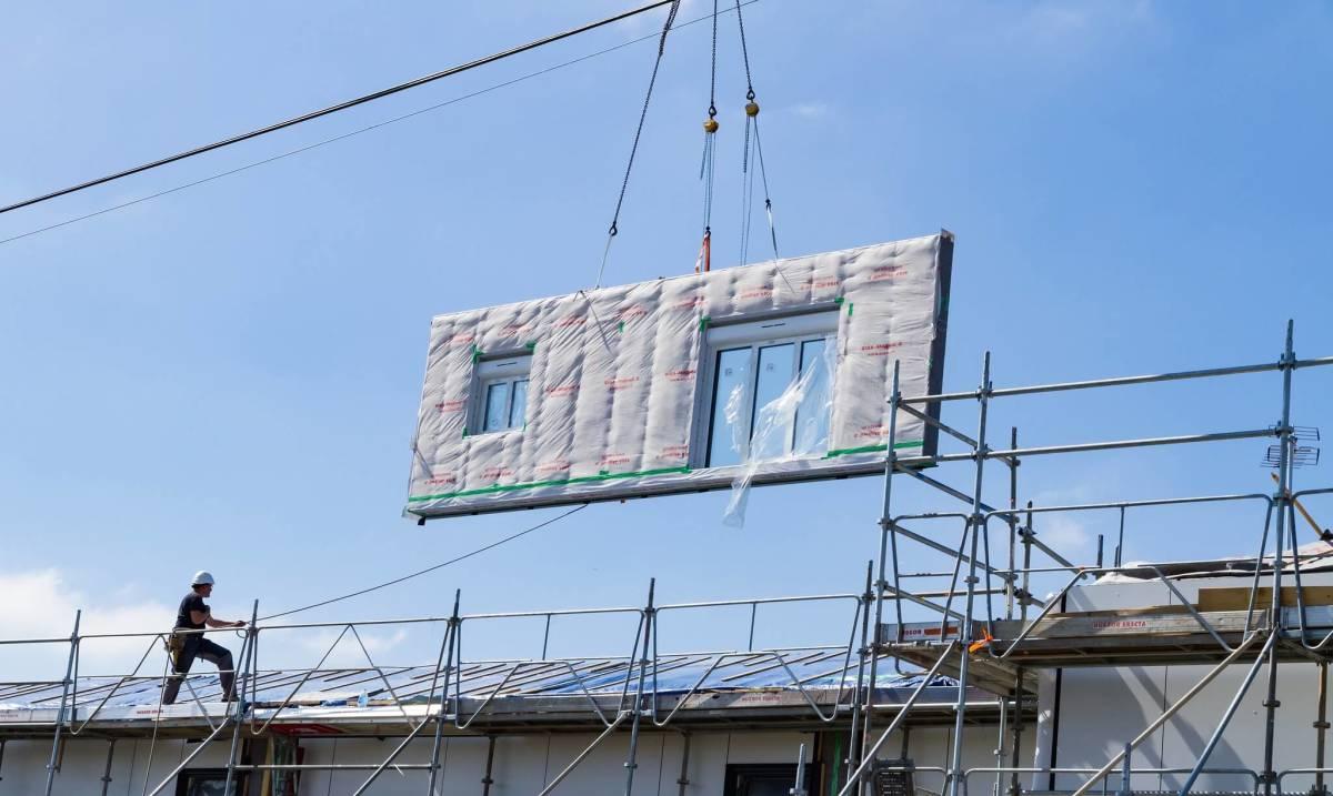 Mise en place d'une façade EnergieSprong sur un immeuble