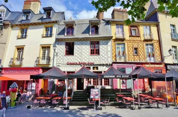 Le centre-ville de Rennes
