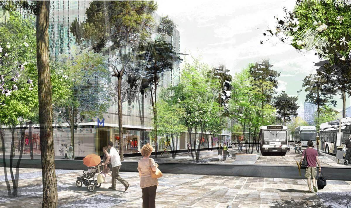 Le parc relais de la future station de métro Gayeulles Maurepas