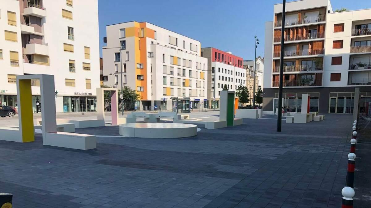 La place Thérèse-Pierre, à Rennes