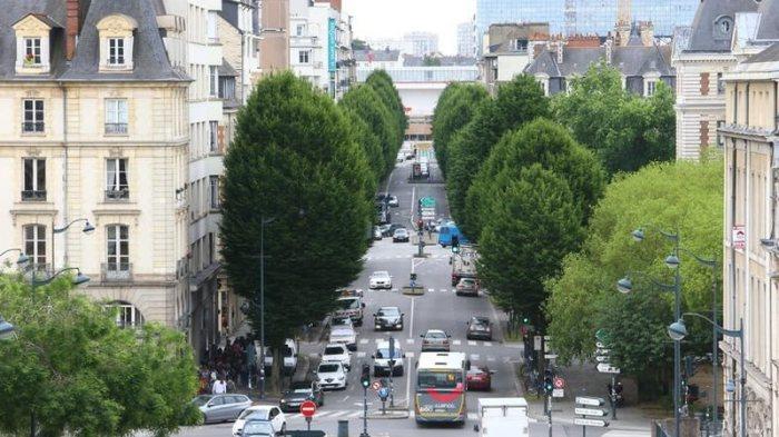 L'avenue Janvier avant les travaux