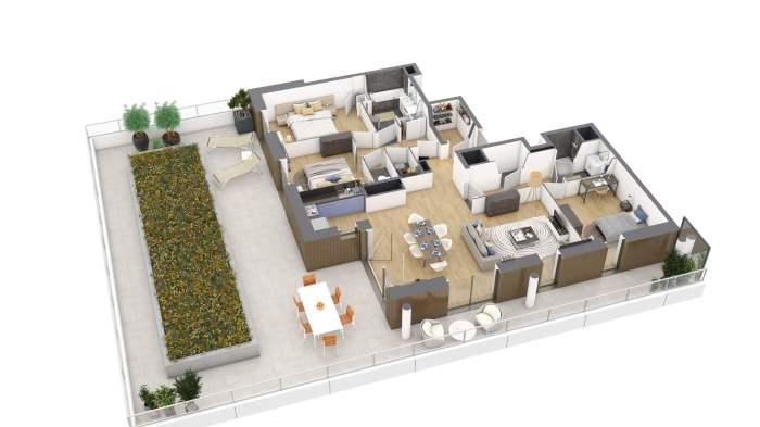 Appartements neufs Bourg-l'Évesque - la Touche - Moulin du Comte référence 4173 : aperçu n°4