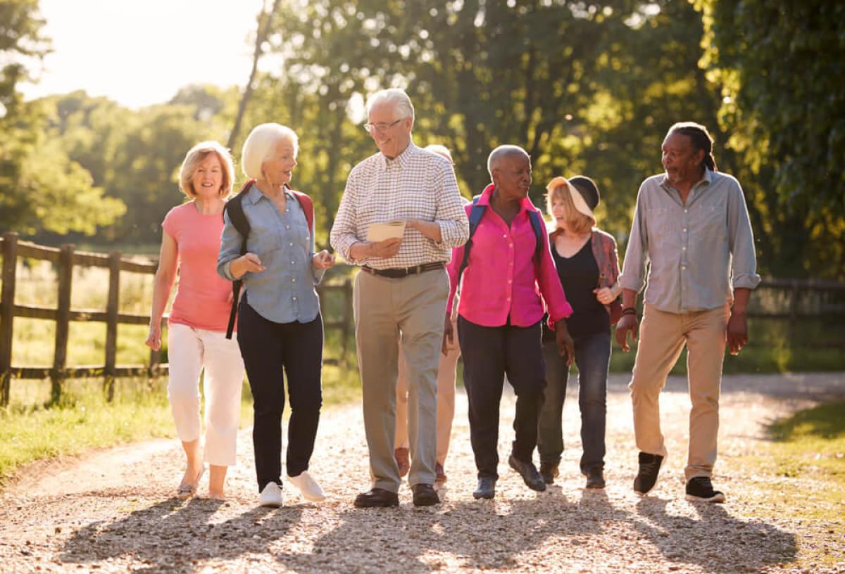 Un groupe de seniors