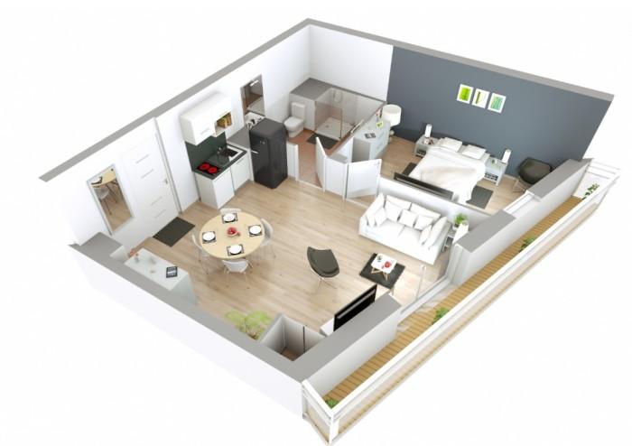 Appartements neufs Bréquigny référence 4414 : aperçu n°2