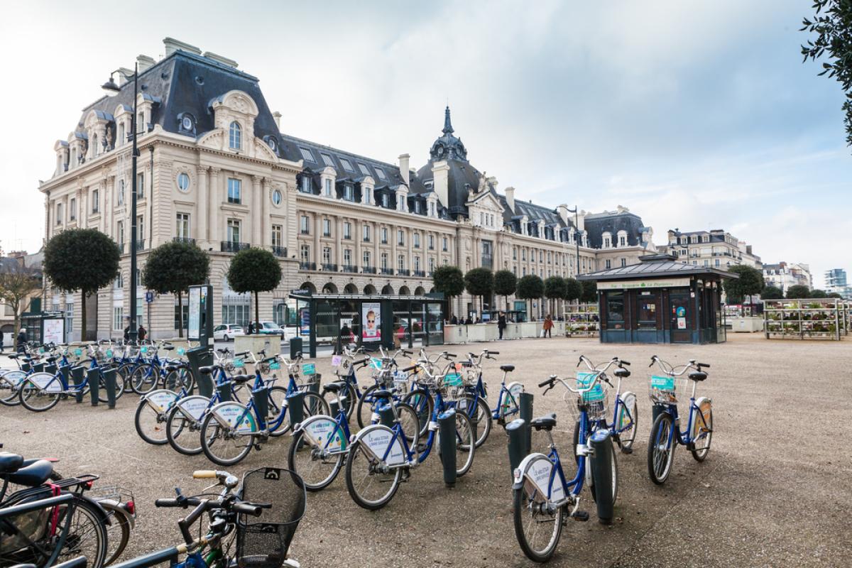 Vélos en libre service à Rennes