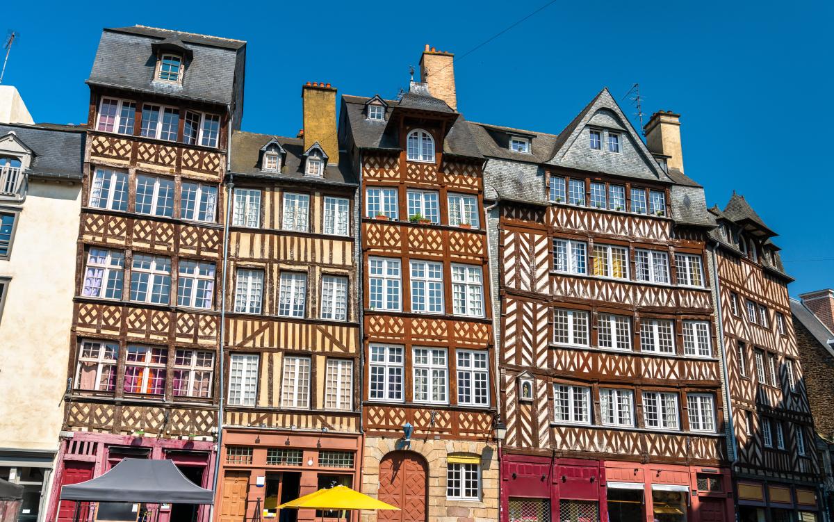 Les maisons à colombages à Rennes