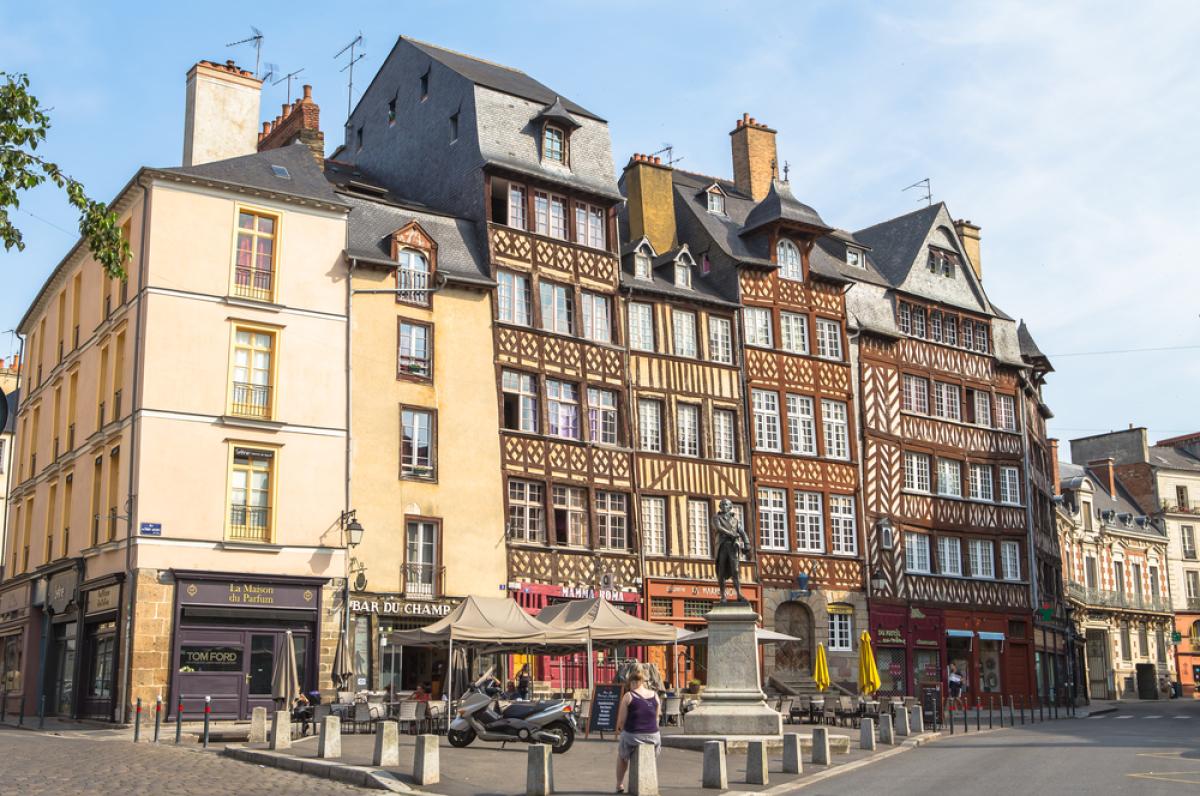Bâtiments historiques de la vieille ville de Rennes