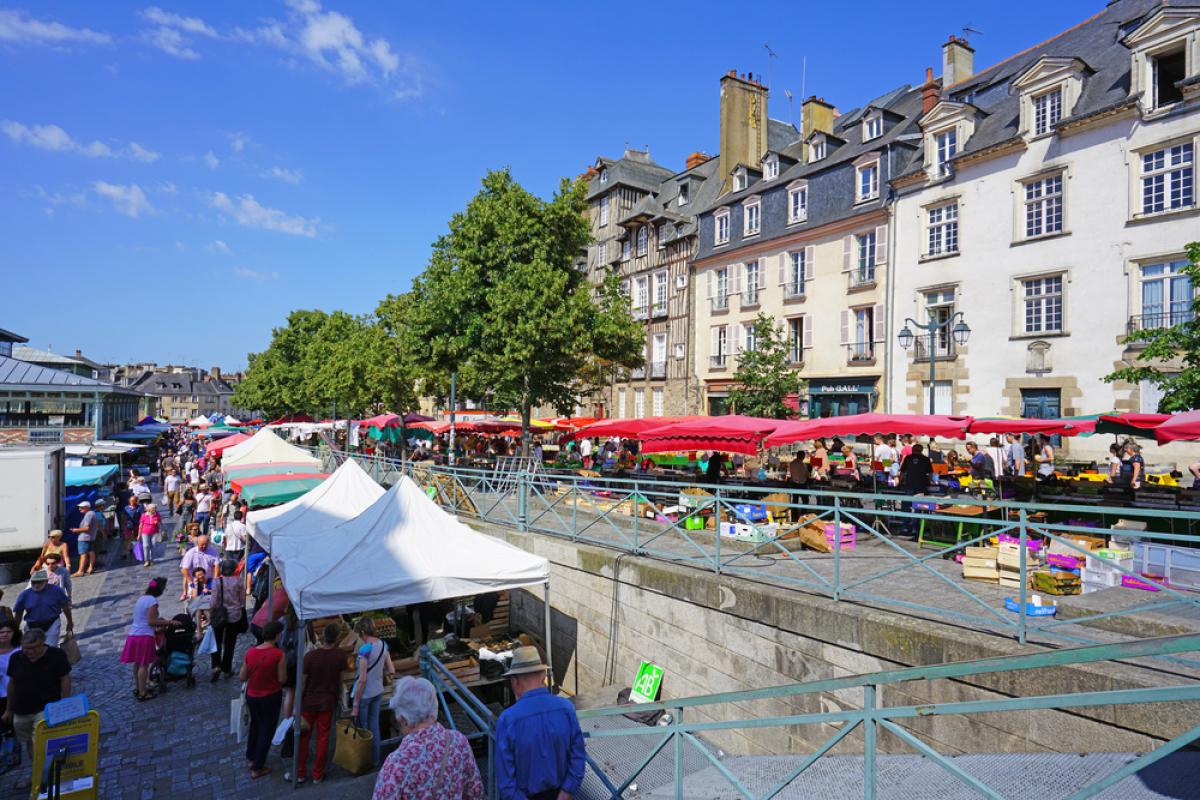 Loyers à Rennes - Le marché des Lices à Rennes