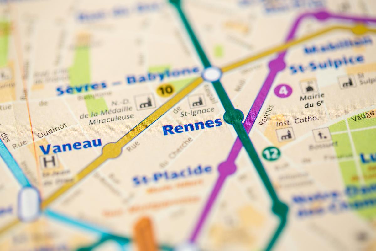 2ème ligne de métro à Rennes – Carte des stations du métro de Rennes.