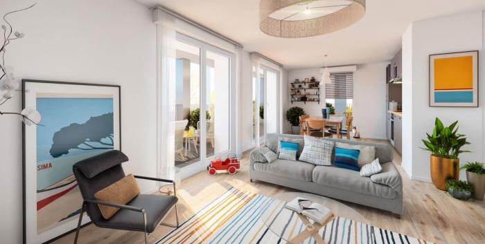 Appartements neufs Francisco-Ferrer - Vern - Landry - Poterie référence 5455 : aperçu n°1