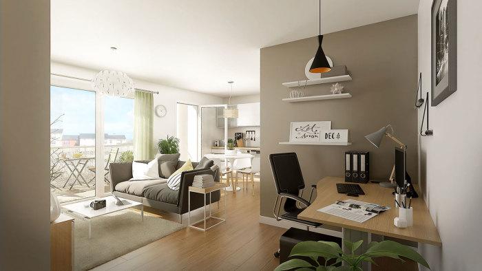 Appartements neufs Nord Saint-Martin référence 5454 : aperçu n°3