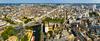Hôtel-Dieu à Rennes – Vue panoramique de la ville de Rennes avec des bâtiments et maisons