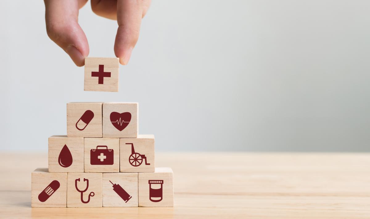 Illustration concept système de santé