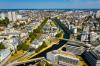 Vue aérienne et panoramique de Rennes