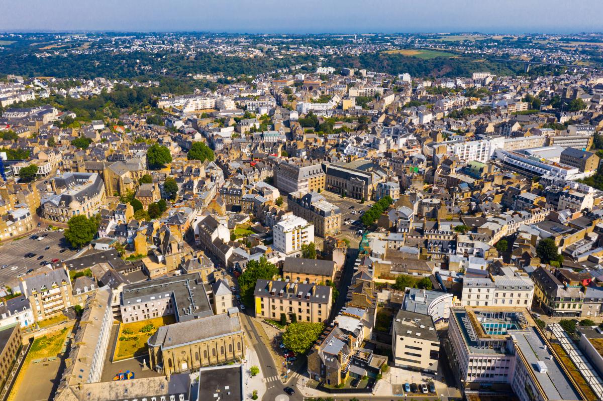 immobilier côte d'Émeraude - Vue aérienne sur la ville de Saint-Brieuc