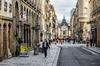 Une rue médiévale dans le centre-ville de Rennes
