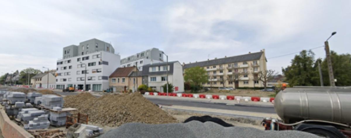 Formes architecturales des logements sur le boulevard de Vitré, à Longs-Champs, à Rennes