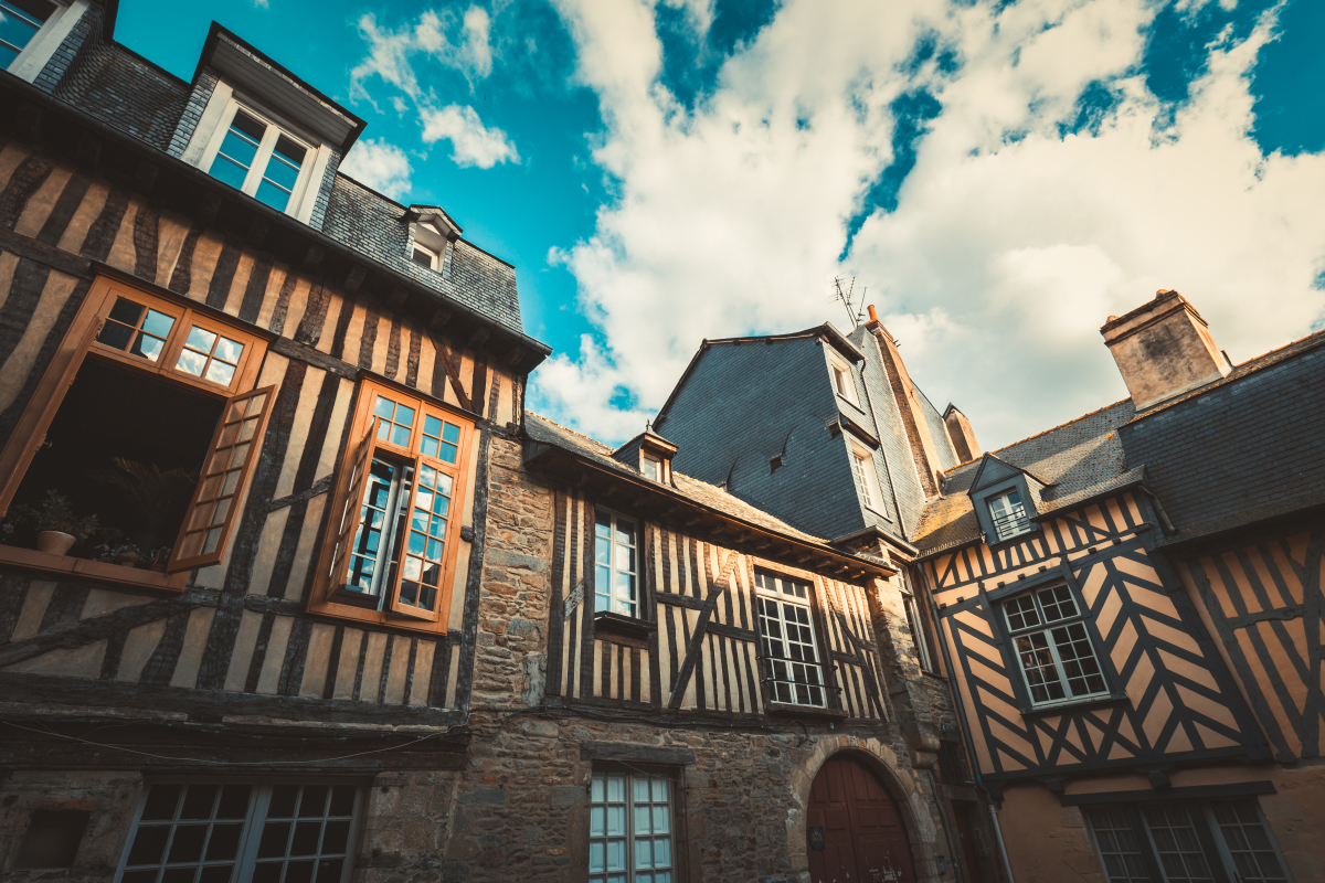 Maison traditionnelles dans le centre-ville de Rennes