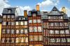 Maisons médiévales tordues, à Rennes