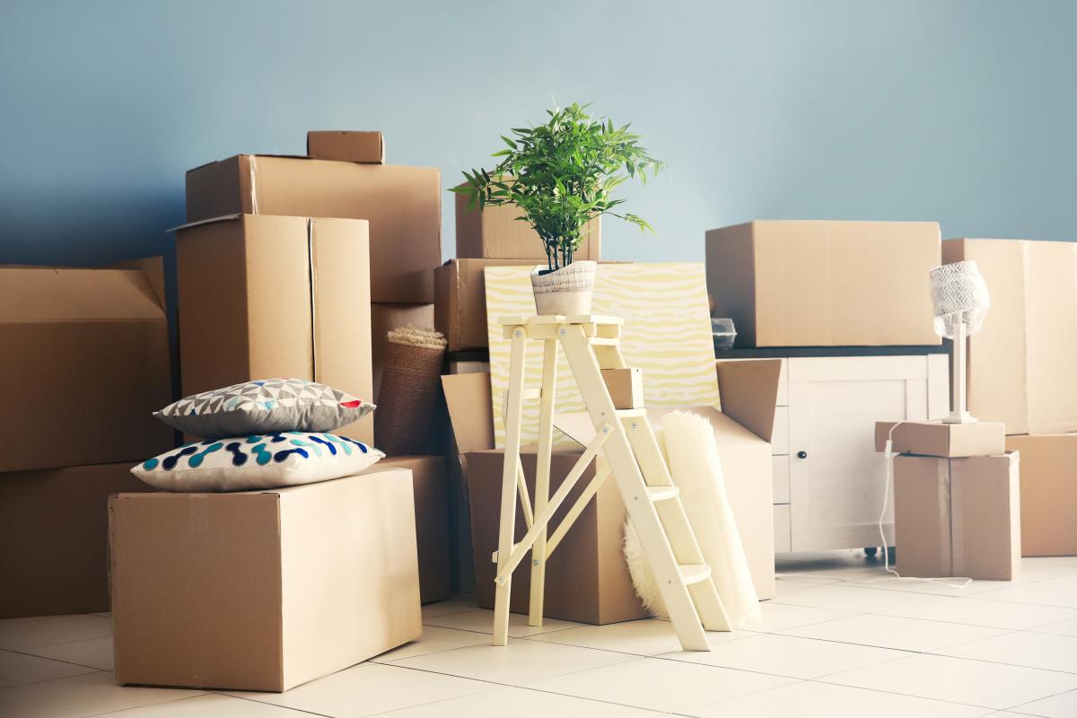 agence gestion locative rennes - Des cartons de déménagement empilés
