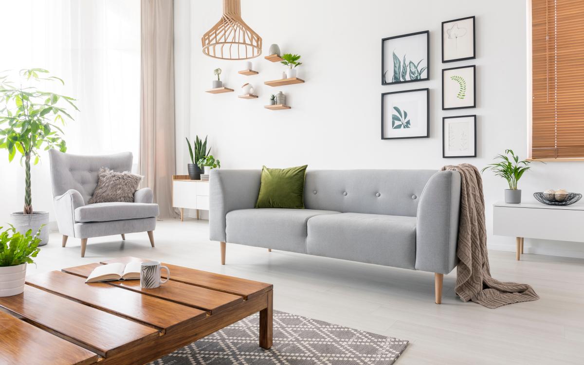 Maison neuve à Rennes Métropole – Salon moderne dans un maison