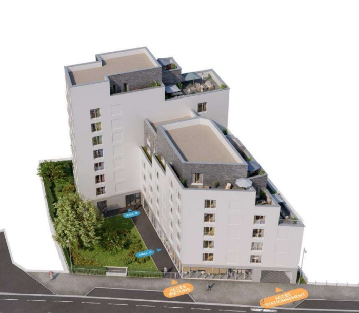 Appartements neufs Francisco-Ferrer - Vern - Landry - Poterie référence 5700 : aperçu n°2