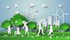 Immeuble écologique – Illustration d'une ville et d'un habitat écologique