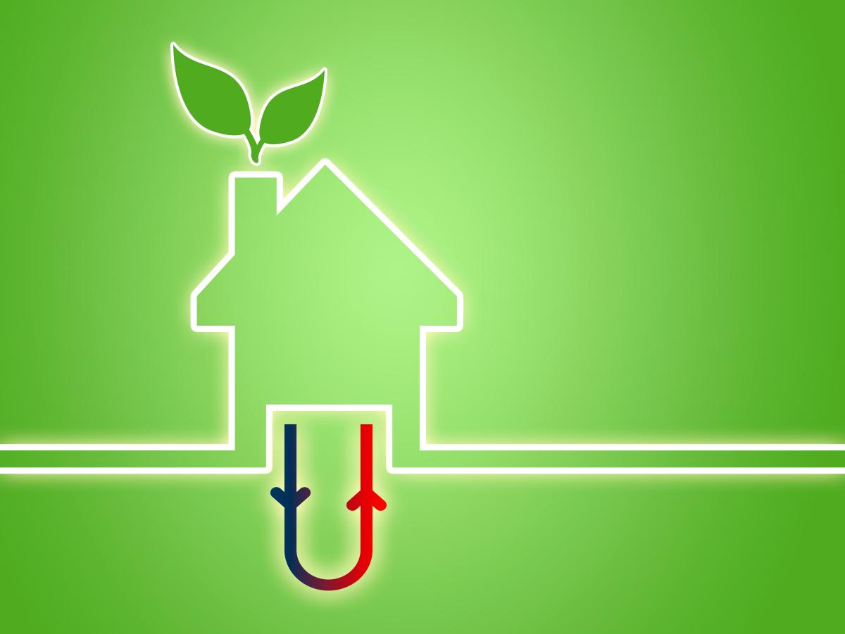 Immeuble écologique – Illustration d'un chauffage de maison par géothermie pour un habitat écologique
