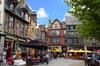 Histoire de Rennes - Les maisons à colombages de la place Sainte-Anne