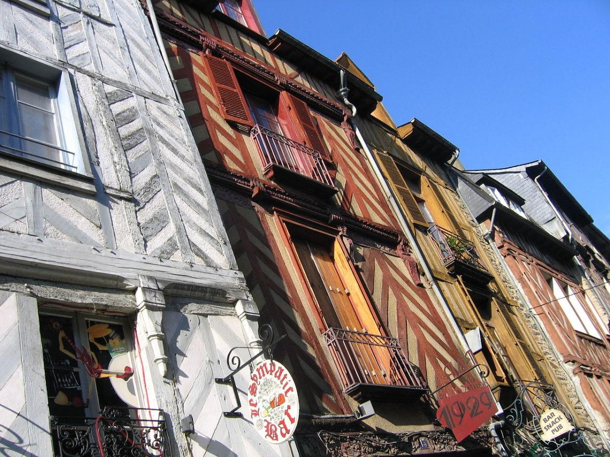 Histoire de Rennes - Les colombages de la rue Saint-Michel