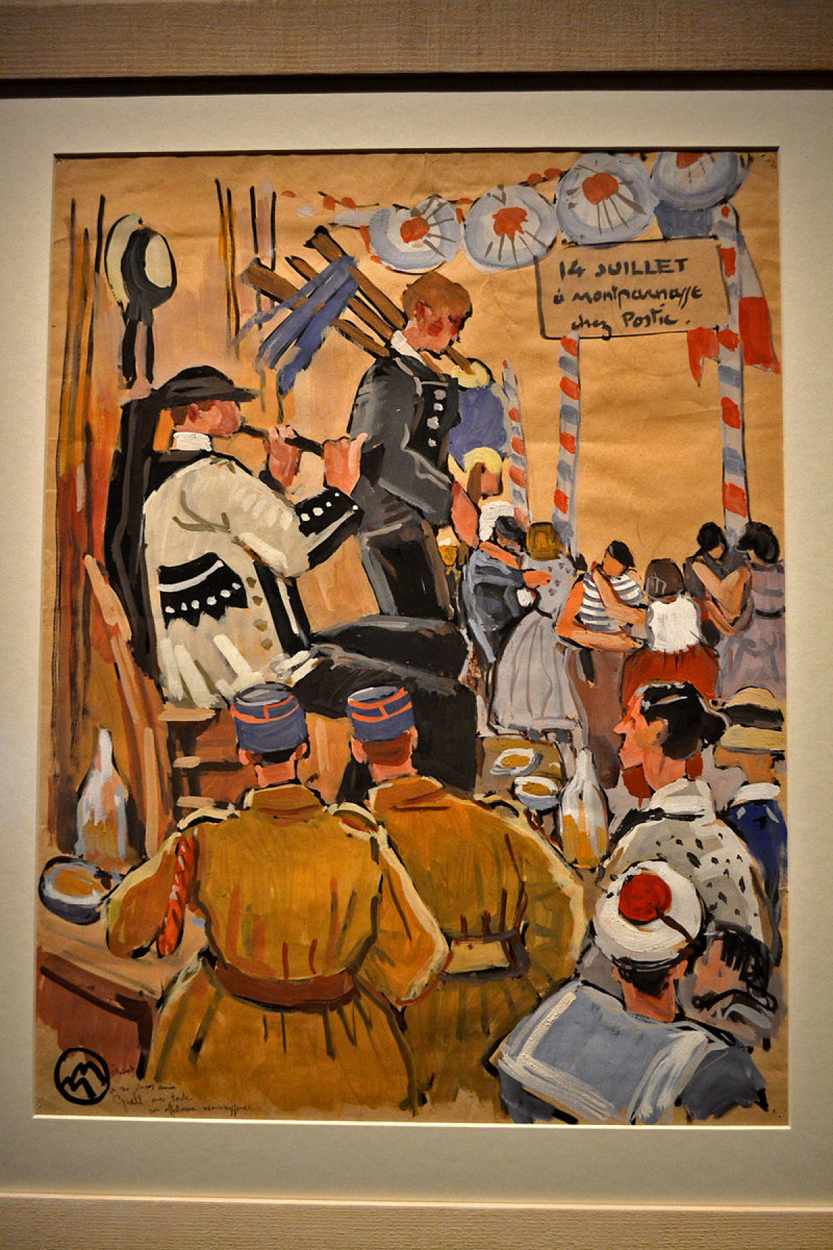 les personnalités rennaises - Exposition temporaire Boire, joueurs de Bignou et soldats à la fête du 14 juillet