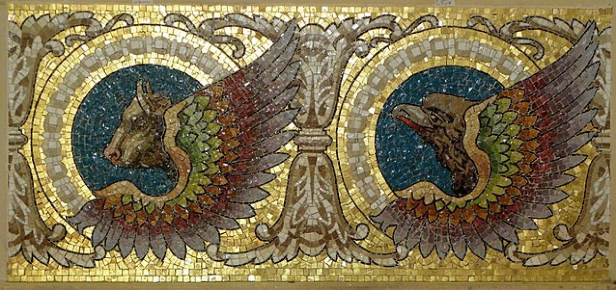 les personnalités rennaises - détails de mosaïque de la piscine Saint-Georges