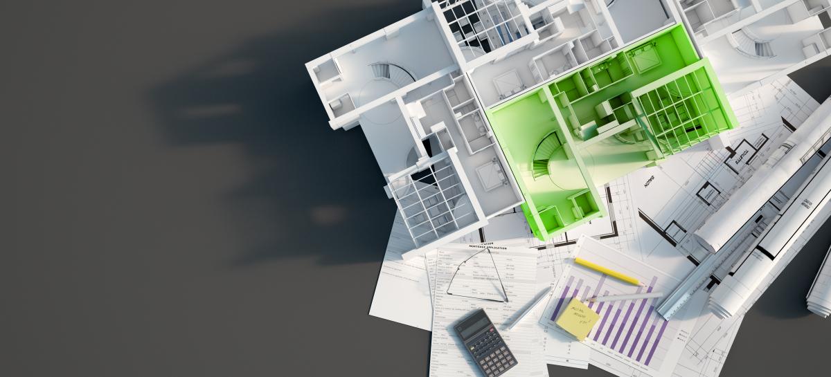 accès aux logements sociaux à Rennes - maquette d'immeuble neuf