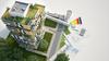 Logements bas carbone à Rennes – Représentation d'un immeuble écologique dans une résidence arborée