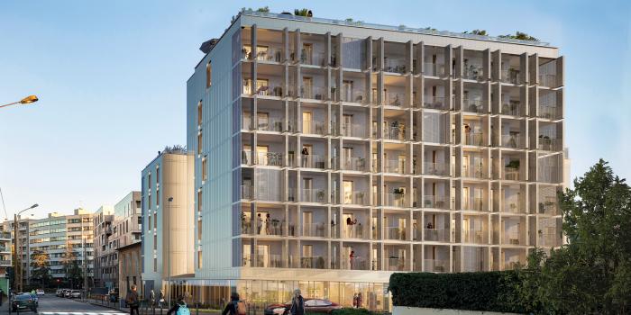 Appartements neufs Bourg-l'Évesque - la Touche - Moulin du Comte référence 5752 : aperçu n°2