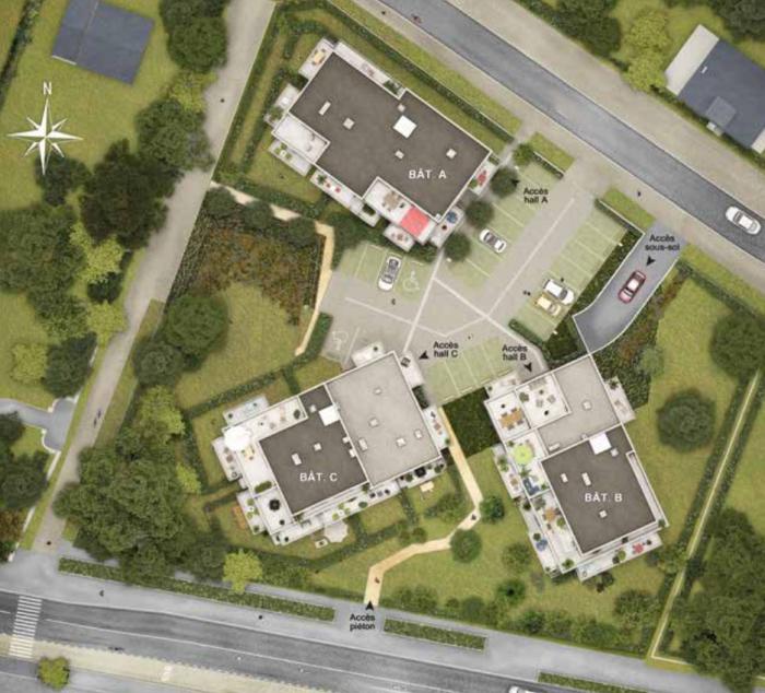 Appartements neufs Vezin-le-Coquet référence 5844 : aperçu n°3