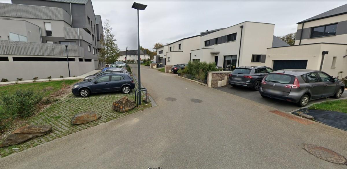 Bruz - Les constructions récentes de la rue Henri Queffelec dans le quartier Croix Madame