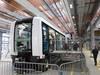 Ligne B du métro à Rennes – Une rame Cityval lors de la journée porte ouverte de l'atelier de la ligne B