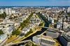 Vue aérienne panoramique de Rennes
