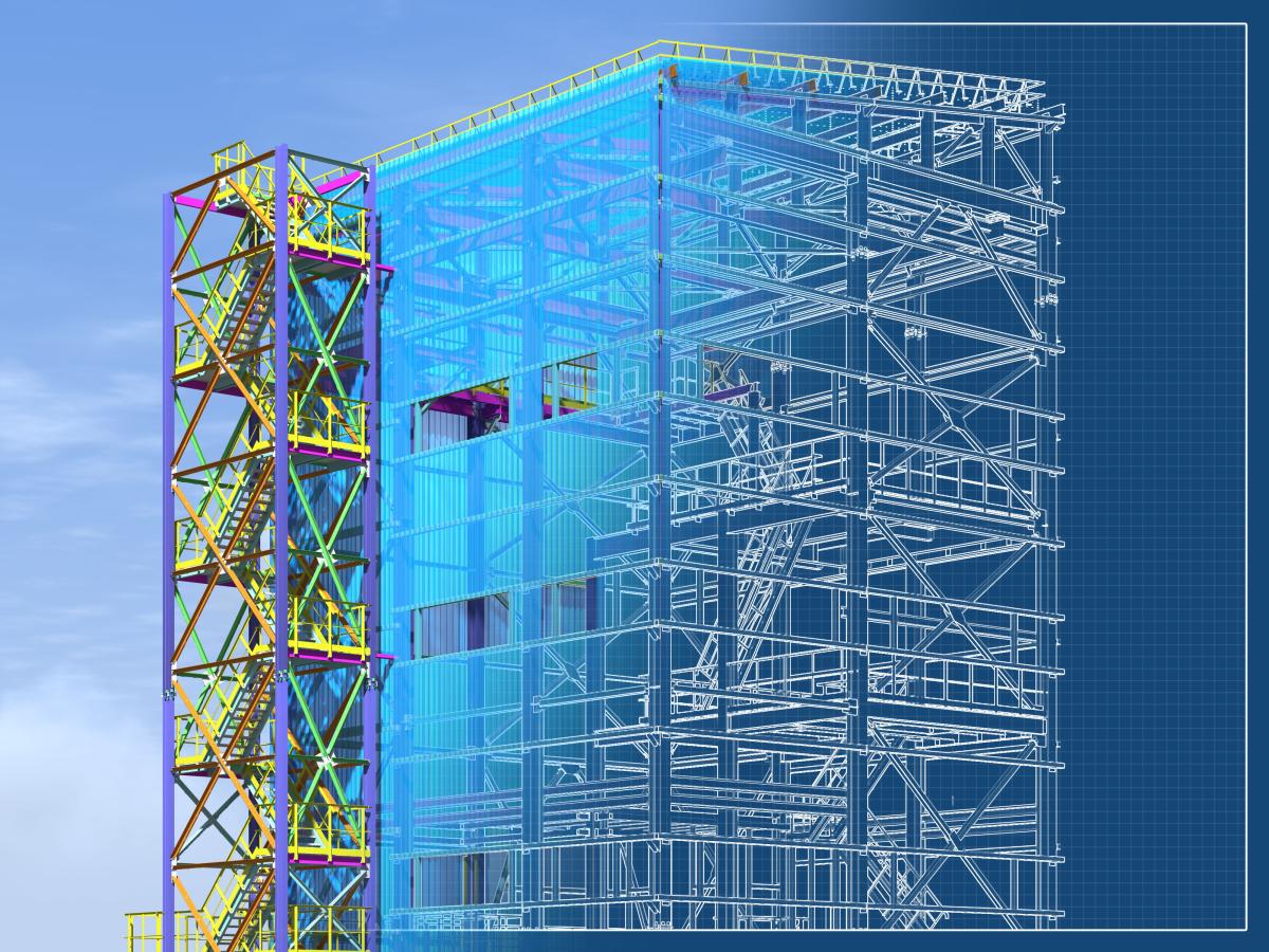 Eiffage à Rennes – Maquette BIM d'un bâtiment en construction